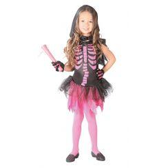 Costume bambina SCHELETRO ROSA