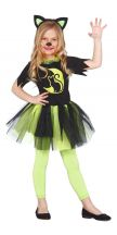 Costume GREEN KITTY bambina