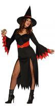 Costume STREGA sexy nera e rossa