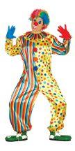 Costume tuta pagliaccio multicolor