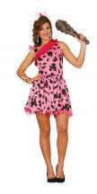 Costume cavernicola rosa chic