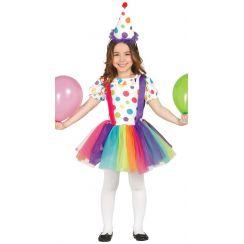 Costume CANDY CLOWN bambina