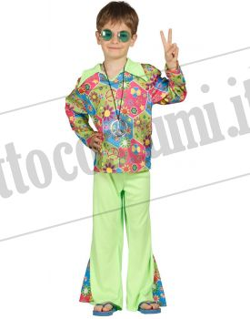 Costume HIPPIE BOY SCANZONATO