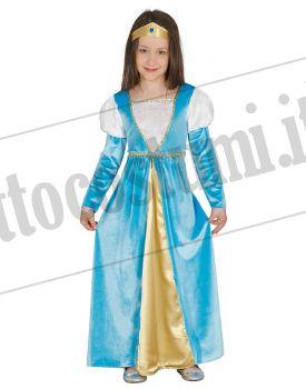 9b9ba4ef32d1 Costume NOBILE PRINCIPESSA bambina
