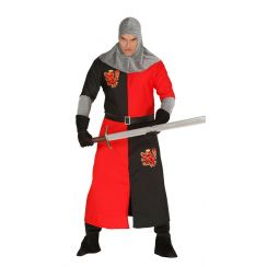 Costume CAVALIERE MEDIEVALE rosso adulto