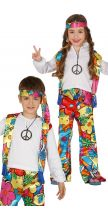 Costume HIPPIE PARTY unisex bambino