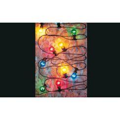 Ghirlanda con 10 lampadine colorate
