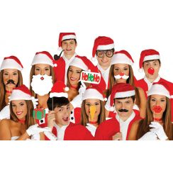 Set PHOTO BOOTH NATALE 12 pezzi