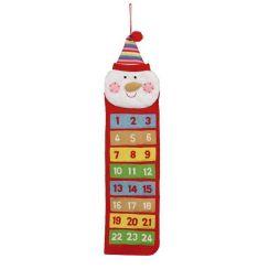 Calendario dell'avvento PUPAZZO DI NEVE 75 cm