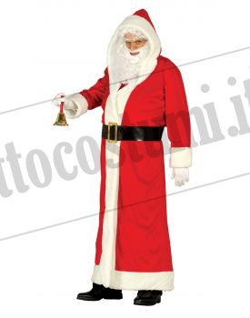 Costume Babbo Natale.Costume Babbo Natale Cappotto Lungo Lusso