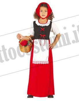 Costume PASTORELLA rossa bambina