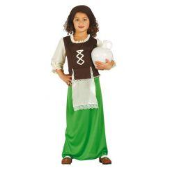 Costume PASTORELLA verde bambina