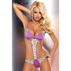 Body ROMANTIQUE look Trikini LILAC