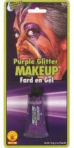 Trucco gel glitter viola
