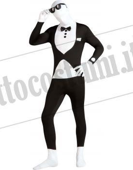 Costume SMOKING tuta 2nd Skin adulto