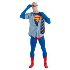 Costume SUPERMAN tuta 2nd Skin adulto