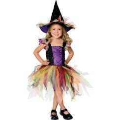 Costume STREGA MULTICOLORE