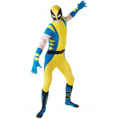 Costume WOLVERINE tuta 2nd Skin adulto
