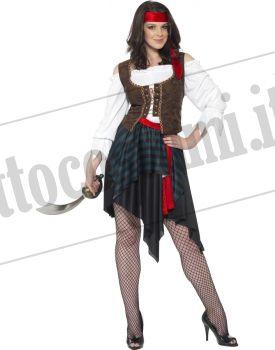 Costume PIRATESSA ISOLE ANTILLE
