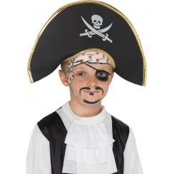Cappello da capitano Pirata bambino