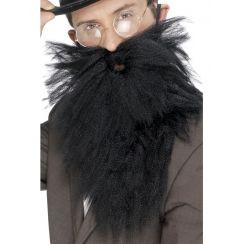 Barba lunga nera scalata con baffi