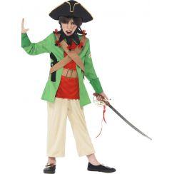 Pirata verde Barbanera bambino