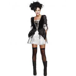 Costume donna BAROCCO nero e argento