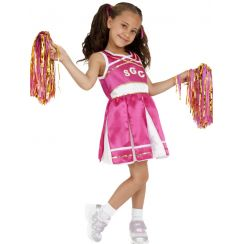 Costume CHEERLEADER ROSA bambina