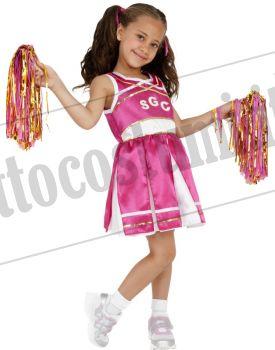Costume CHEERLEADER ROSA bambina