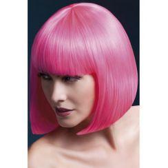 Parrucca ELISE caschetto rosa neon