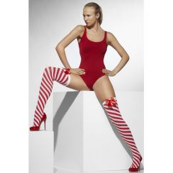 Calze rosso / bianco natalizie