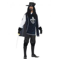 Costume MOSCHETTIERE AZZURRO aulto