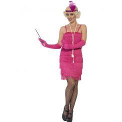 Costume CHARLESTON ROSA