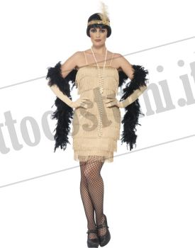 Costume CHARLESTON FLAPPER ORO
