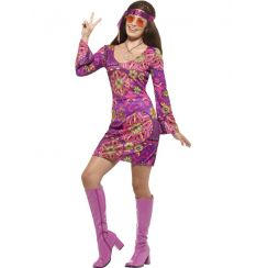 Costume WOODSTOCK HIPPIE CHICK donna