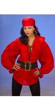 Camicia donna PIRATA / RINASCIMENTO rossa