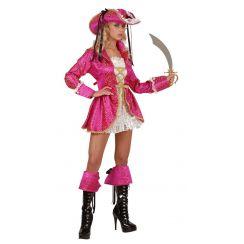 Costume da piratessa rosa PIRATE CAPTAIN