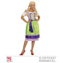 Costume DIRNDL viola-verde