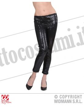 LEGGINGS IN PAILLETTES NERI