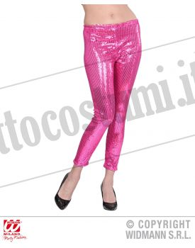 LEGGINGS IN PAILLETTES PINK