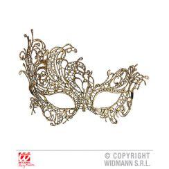 Maschera macramé oro