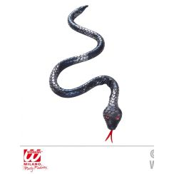 Serpente argento-nero modellabile 80 cm