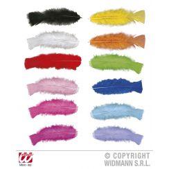 Confezione di  50 PIUME multicolor