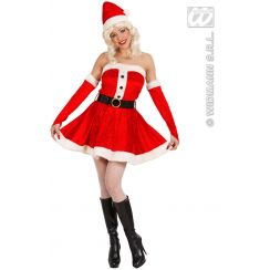 Costume MISS SANTA con bottoni