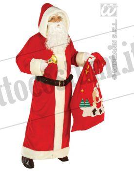 Costume Babbo Natale lungo lusso XL