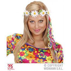 Corona MARGHERITE con nastri multicolore