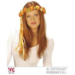 Corona fiori con nastri MULTICOLORE
