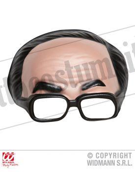 Maschera MEZZA TESTA capelli neri