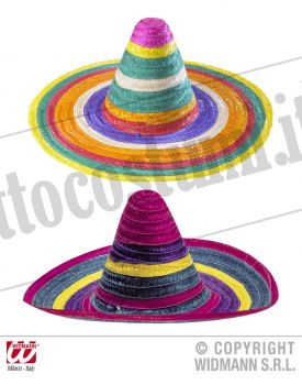 Sombrero multicolore 50 cm