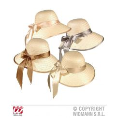 Cappello CHICAGO in paglia con fiocco in satin